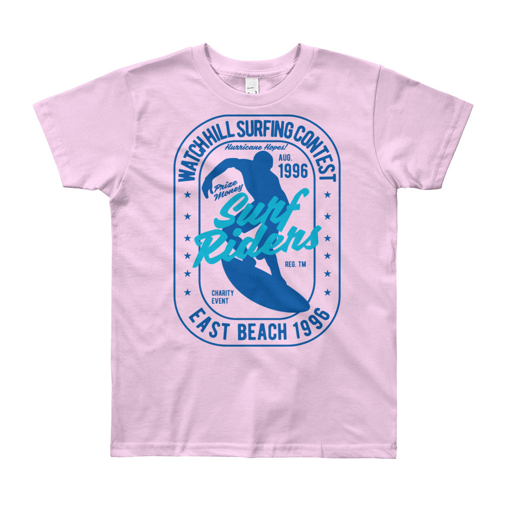 Watchill'n 'Surf Rider' - Youth Short Sleeve T-Shirt (Blue) - Watchill'n