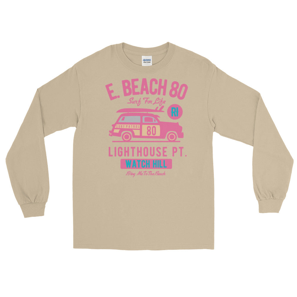 Watchill'n 'Beach Buggy' - Long-Sleeve T-Shirt (Pink) - Watchill'n