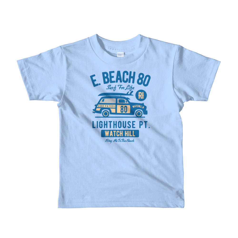 Watchill'n 'Beach Buggy' - Short sleeve kids t-shirt (Blue) - Watchill'n