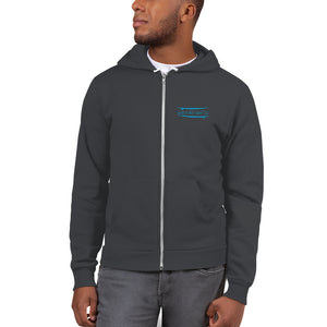 Watch Hill Surf Co. 'Parallel Boards' Premium Hoodie sweater (Hoodie) - Watch Hill RI t-shirts with vintage surfing and motorcycle designs.