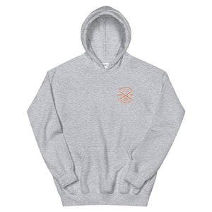 Watch Hill 'Surf Co.' Unisex Hoodie - (Orange) - Watch Hill RI t-shirts with vintage surfing and motorcycle designs.