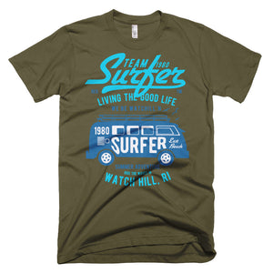 Watchill'n 'Team Surfer' - Short-Sleeve T-Shirt (Turquoise) - Watchill'n