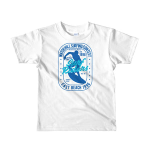 Watchill'n 'Surf Rider' - Short sleeve kids t-shirt (Blue/Turquoise) - Watchill'n