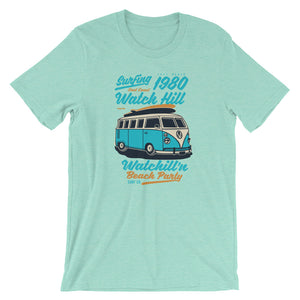 Watchill'n 'Beach Party' - Short-Sleeve Unisex T-Shirt (Turquoise) - Watchill'n
