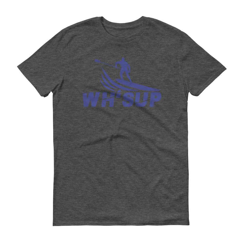 Watchill'n 'WH-SUP Paddle Boarding' - Short-Sleeve Unisex T-Shirt (Navy) - Watch Hill RI t-shirts with vintage surfing and motorcycle designs.