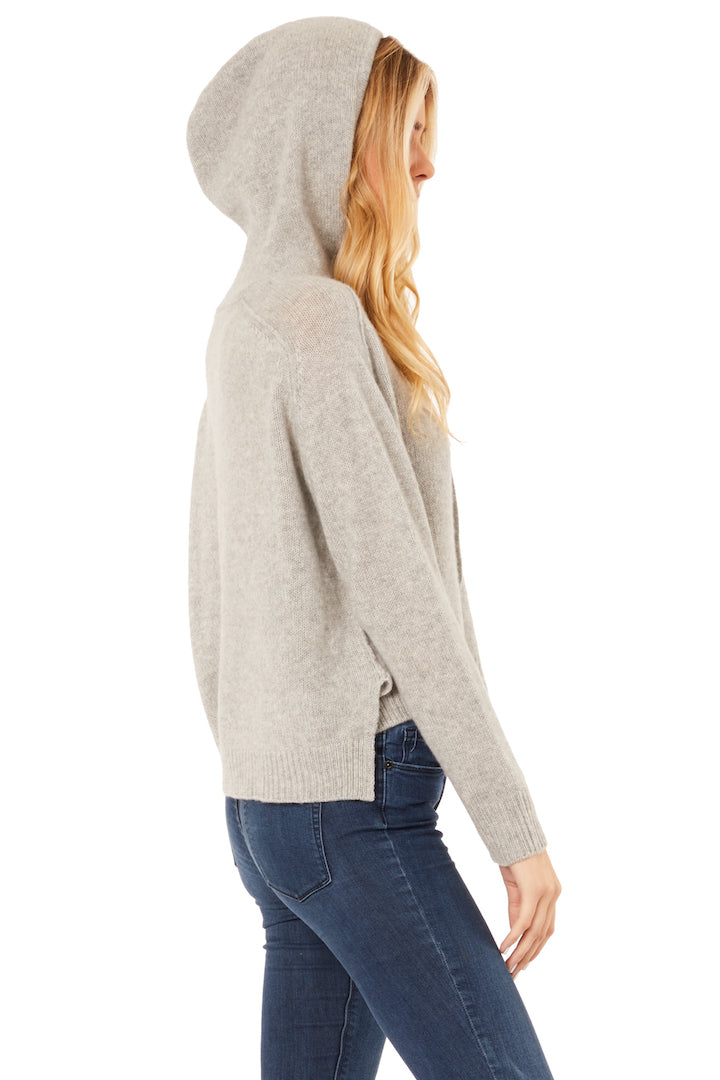 Foggy Grey Cashmere Pullover Hoodie