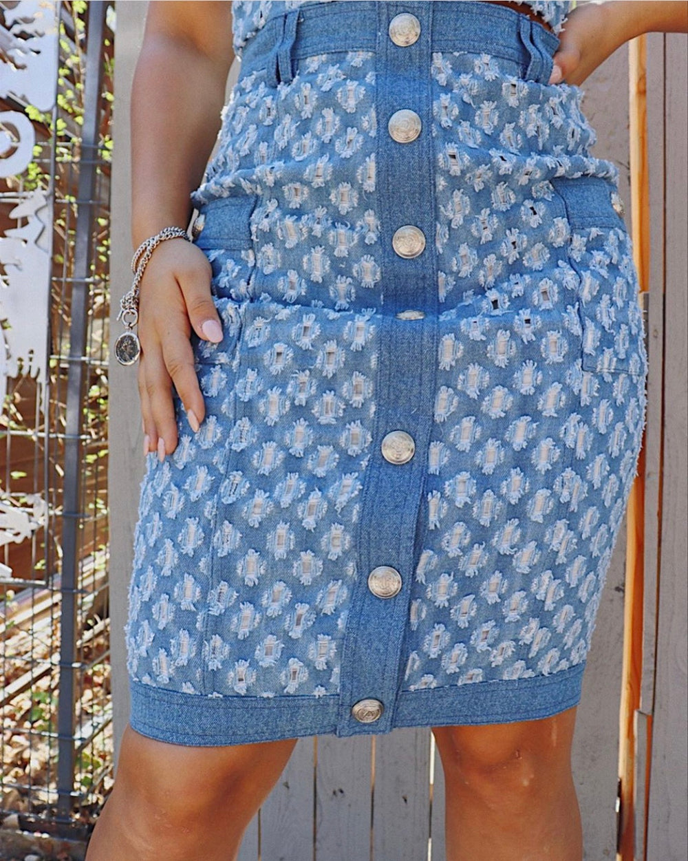 2 piece midi denim set