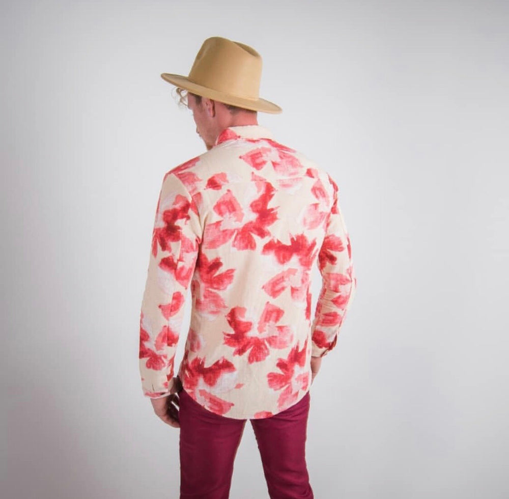 Magg floral linen shirt-Clearance!