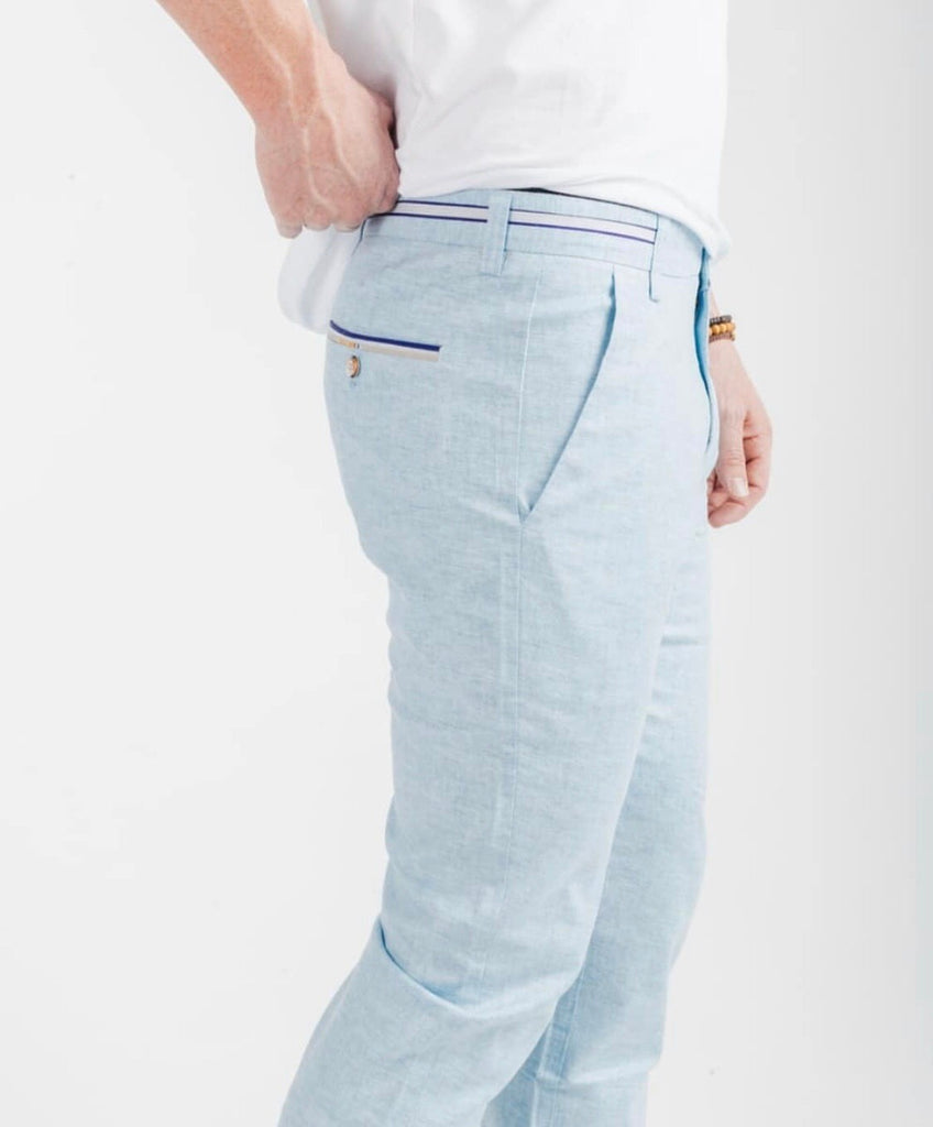 Linen fitted pant