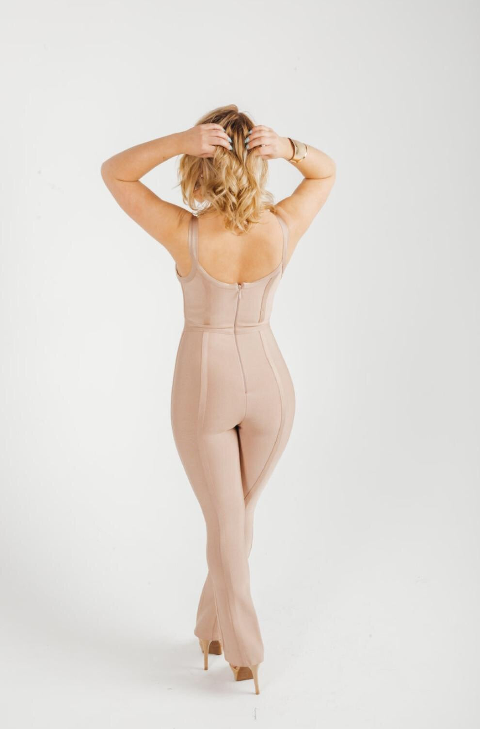 Bandage ribbed pant suit