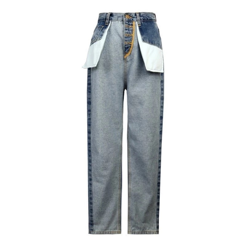 Turnt up inside out denim pant