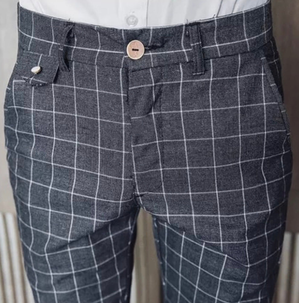 Summer plaid dress pant