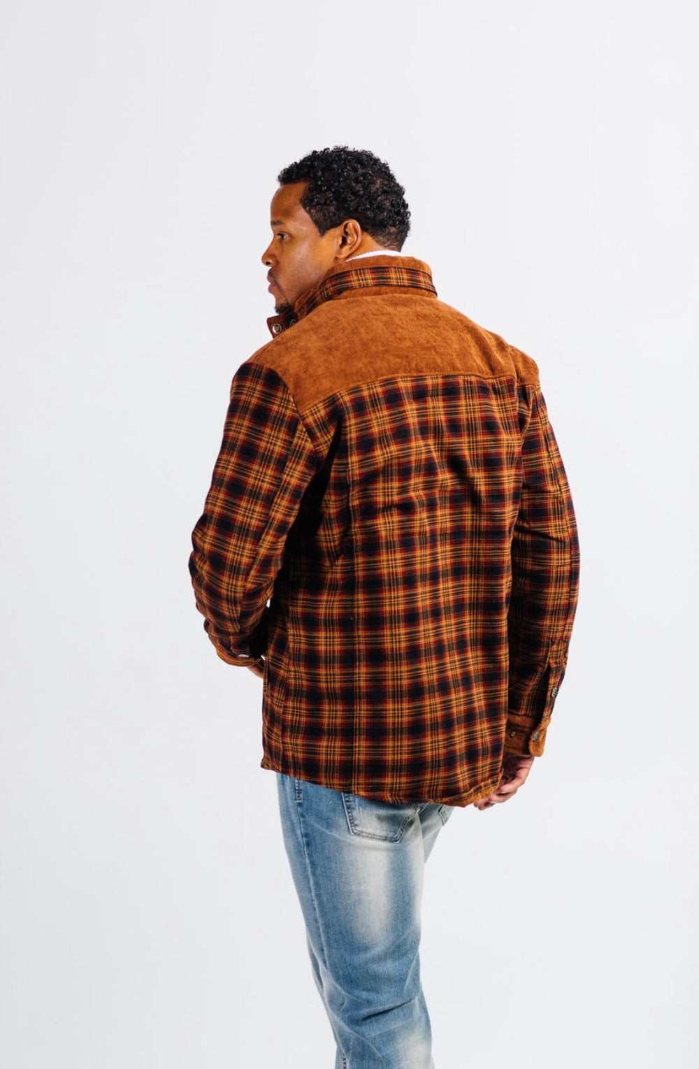 Insulated flannel shirt jacket