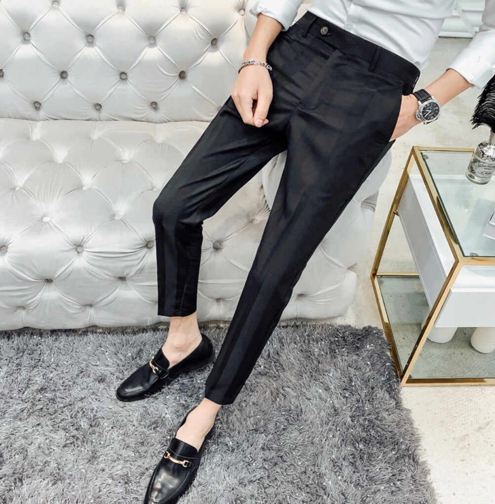 Pinstripe crop dress pant