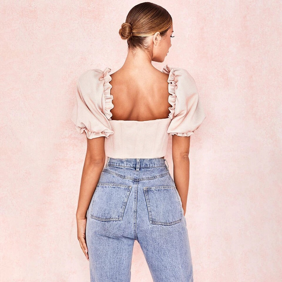 Cupcake puff crop top