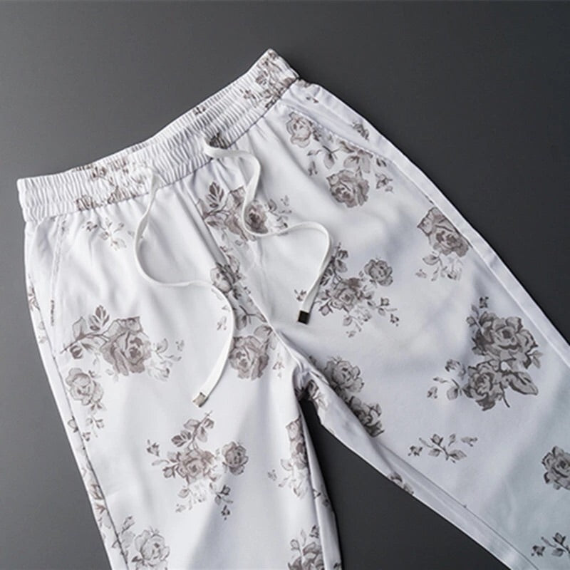 Floral summer draw string pant