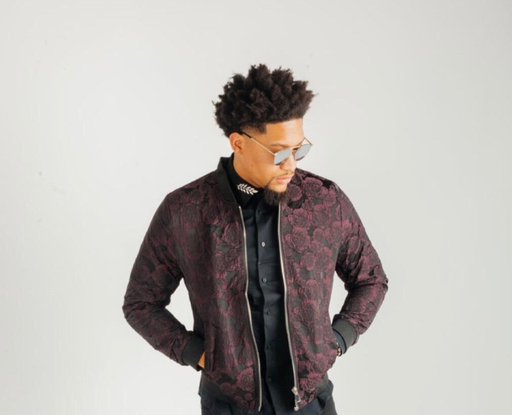 Rose and thorn fitted bomber-Clearance!