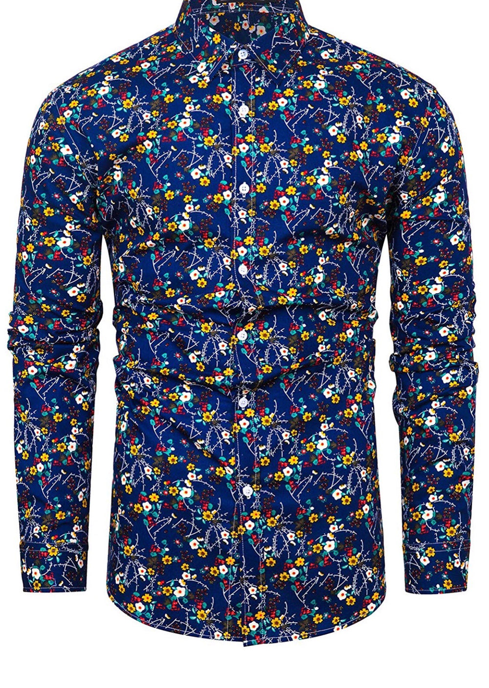 Blue prairie button up shirt