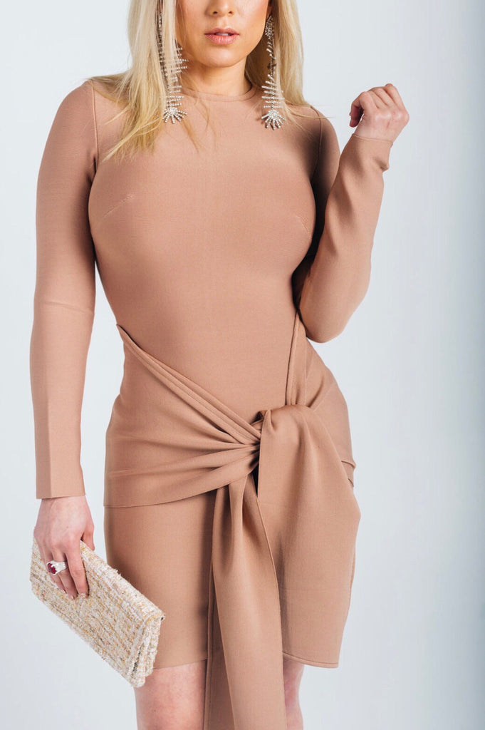 Veronica nude bow dress