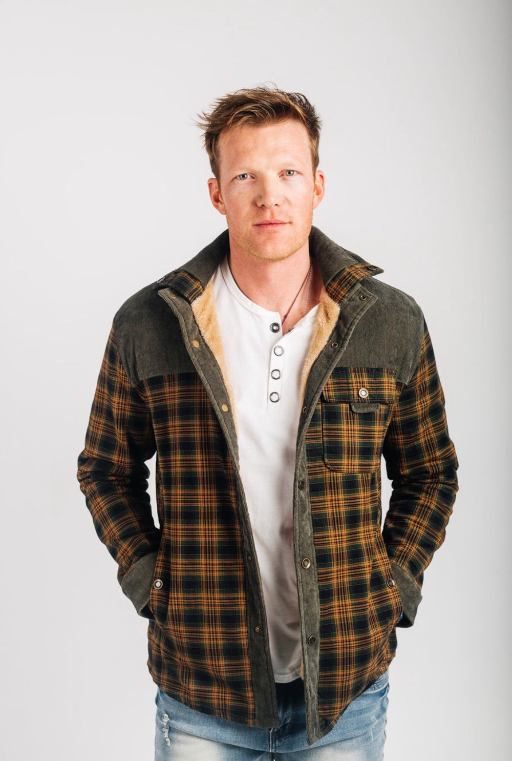 Insulated flannel shirt jacket-Clearance!