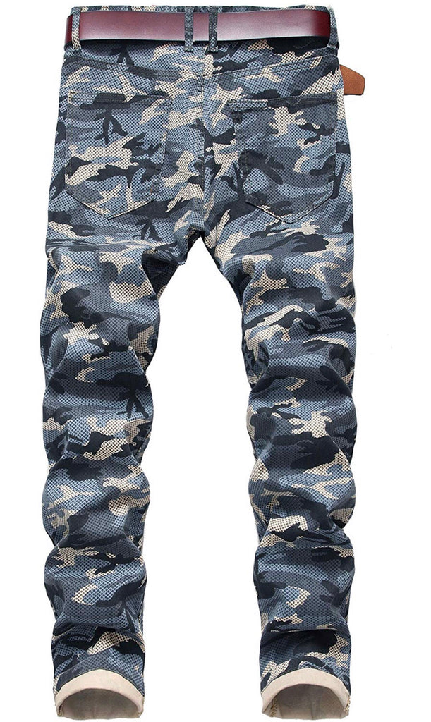 Camouflage cold denim