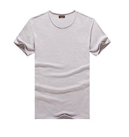 Rough line fitted V neck tee