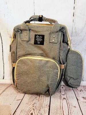 Waterproof, backpack diaper bag