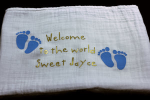 Personalizes a baby Burp Cloths/Blankets