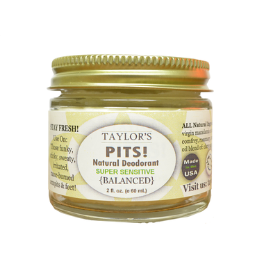 Taylor's Pits Super Sensitive Natural Deodorant