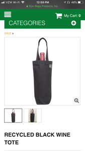 Eco Bags Recycled Cotton Wine Bag