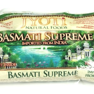Jyoti Natural Foods Basmati Supreme Rice, 32-Ounce Bags (Pack of 6)