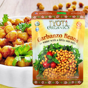 Jyoti Organic Garbanzo Beans, 10 Ounce (Pack of 6)