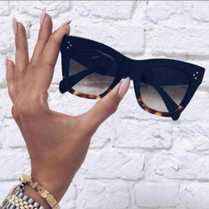 Luxury Brand  Eye-wear Women Flat Top Sunglasses UV400