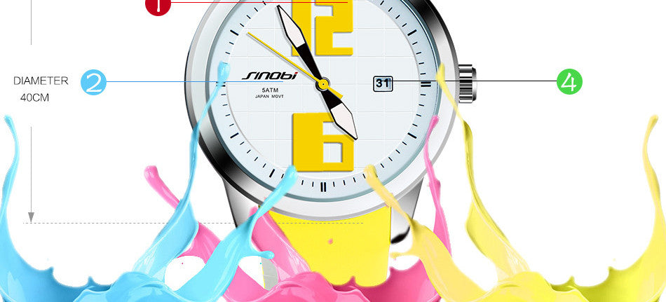 Quartz Fashion Sport Waterproof Watch