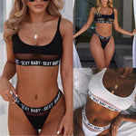 Solid Seamless Bra and Briefs Women Set