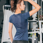 Breathable Yoga Shirt Short Sleeves