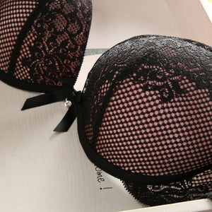 Fashion Lace Deep V-Neck Sexy Bra Push Up Underwear