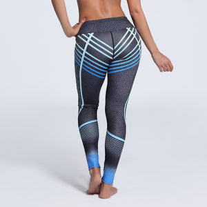 Sporting Leggings Workout Striped Pants