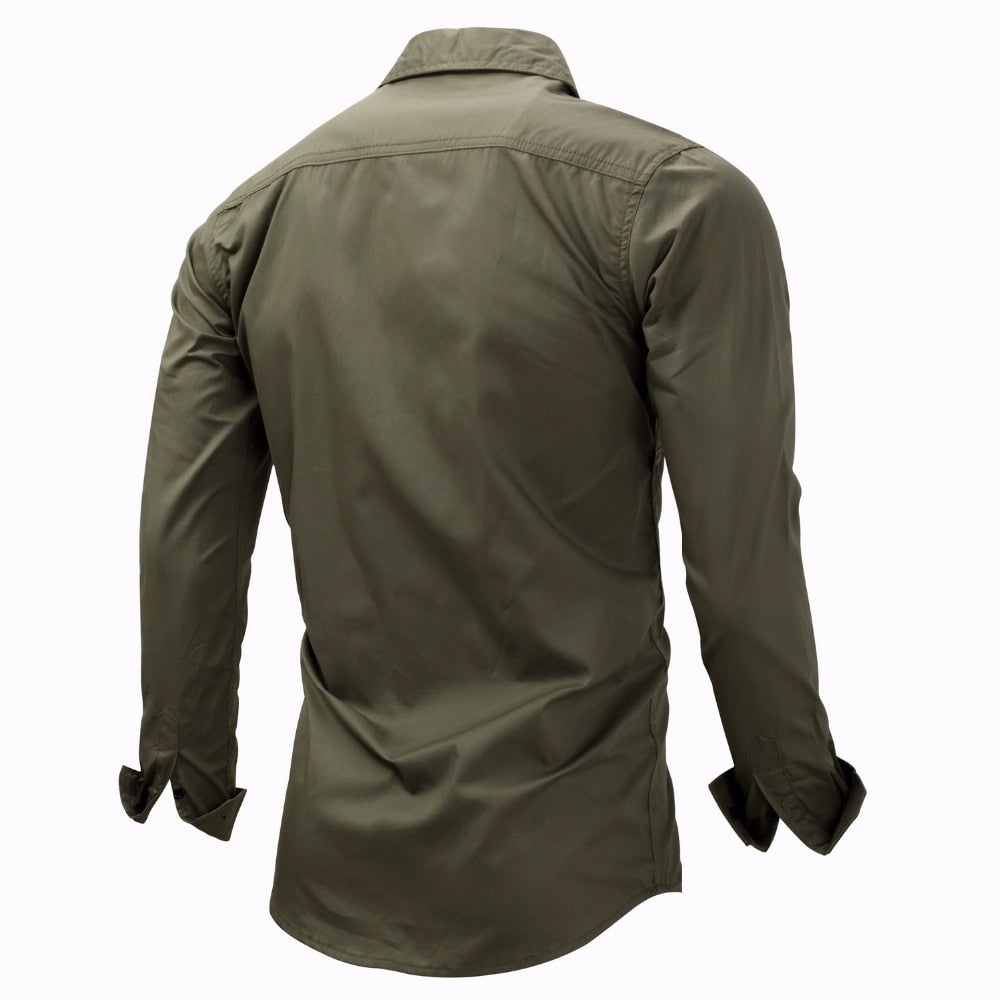 Long Sleeves Shirt Khaki Army Green Shirt