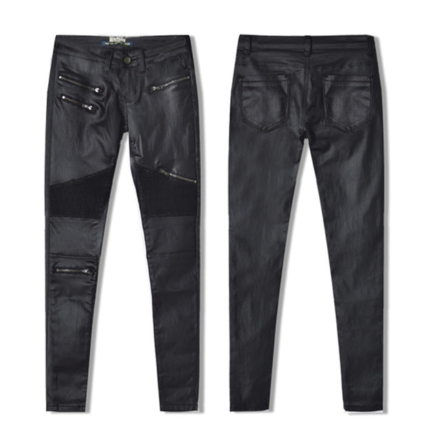 Faux Elastic Leather Pants Women S + Plus Sizes