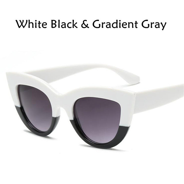 New Cat Eye Women Sunglasses Color Lens