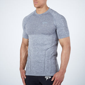 Tight Short T-shirt Quick Dry t shirt Male Gym Fitness Bodybuilding