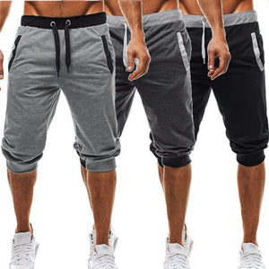 Knee Length Shorts Patchwork Joggers