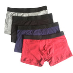 4Pcs Cotton Men Boxers Underwear U Convex Pouch Underpants