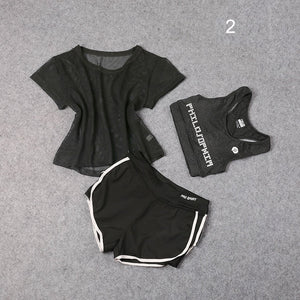 3 PCS Set Women's Yoga Suit Fitness