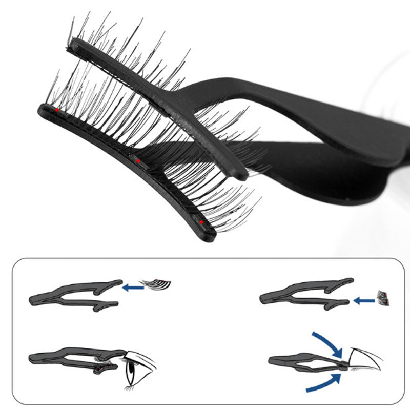New Magnetic False Eyelashes Clip Applicator