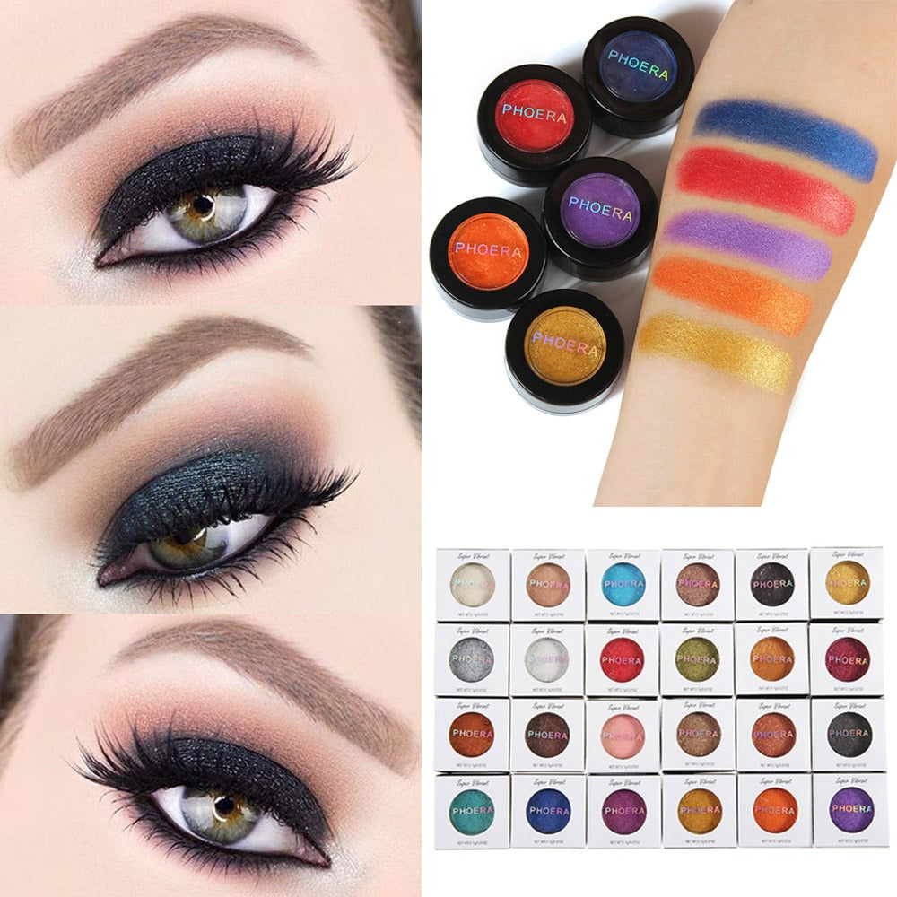 24 Hot Eyeshadow Glitter Shimmering Metallic Makeup