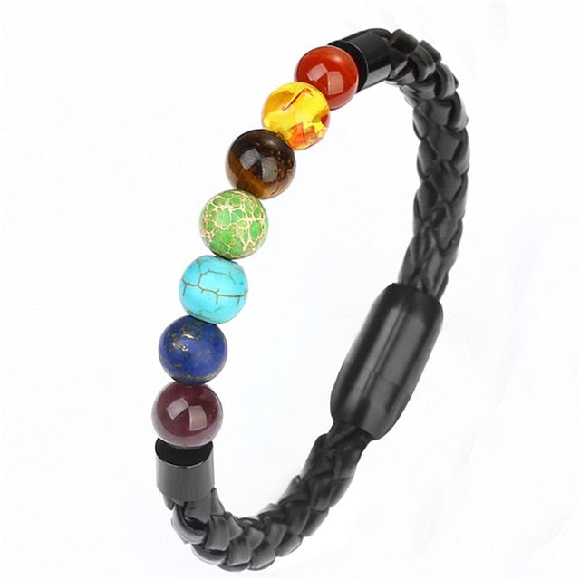 Leather Lava Stone Bracelets