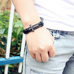 Leather Bracelets & Cross