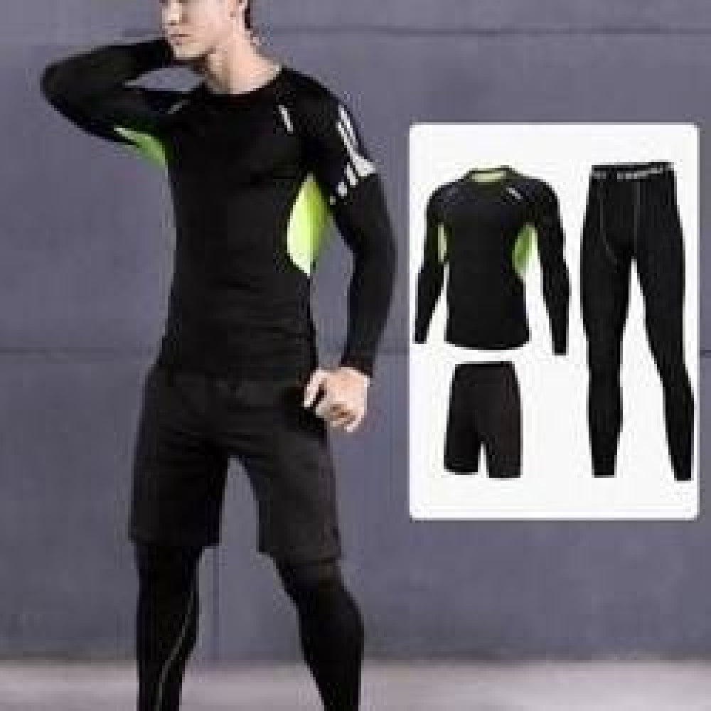 3 Pcs/Set Men Sports Suit Compression Underwear